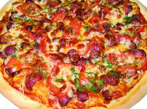 Пицца охотничья рецепт с фото